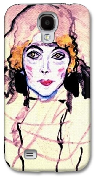 Portrait Of A Lady En Face After Gustav Klimt Galaxy S4 Case