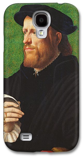 Portrait Of A Man, 1575 Oil On Wood Galaxy S4 Case by Dutch School