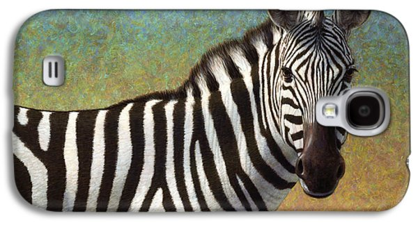 Portrait Of A Zebra Galaxy S4 Case by James W Johnson