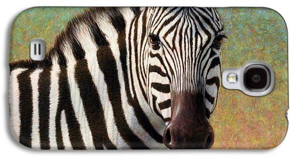 Portrait Of A Zebra - Square Galaxy S4 Case by James W Johnson