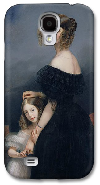 Portrait Of Anne-louise Alix De Montmorency, With Her Daughter, C.1840 Oil On Canvas Galaxy S4 Case by Claude-Marie Dubufe