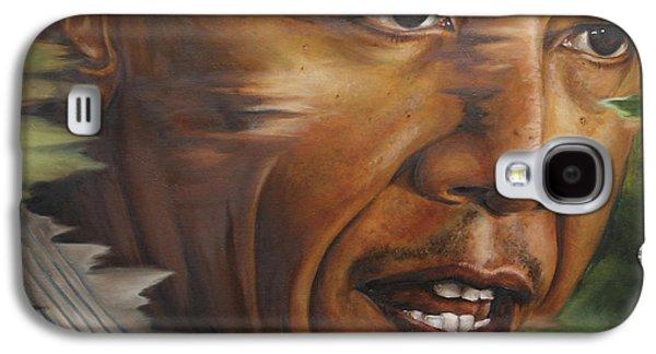 Portrait Of Barack Obama Galaxy S4 Case by Ah Shui