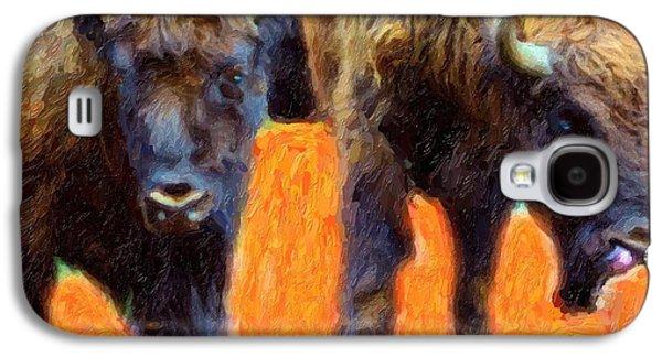 Portrait Of Bison  Galaxy S4 Case