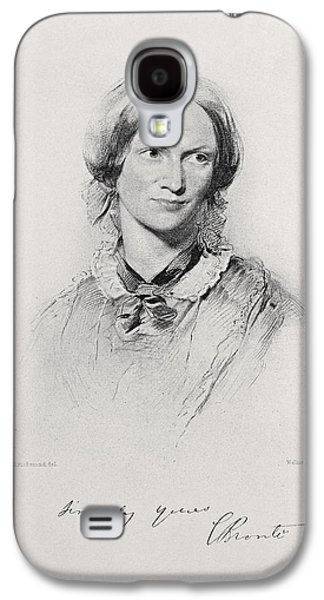 Portrait Of Charlotte Bronte, Engraved Galaxy S4 Case