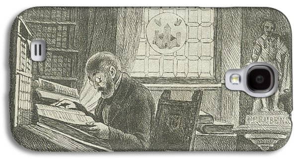 Portrait Of Frederick Verachter At His Desk In The Archive Galaxy S4 Case by Philippus Jacobus Van Bree
