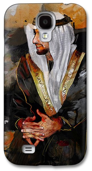 Portrait Of Hamdan Bin Mohammad Bin Rashid Al Maktoum 2 Galaxy S4 Case by Maryam Mughal