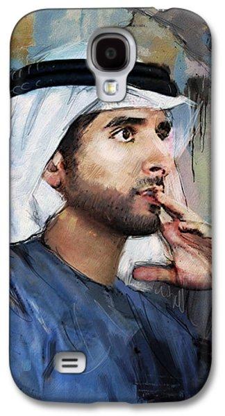 Portrait Of Hamdan Bin Mohammad Bin Rashid Al Maktoum Galaxy S4 Case by Maryam Mughal