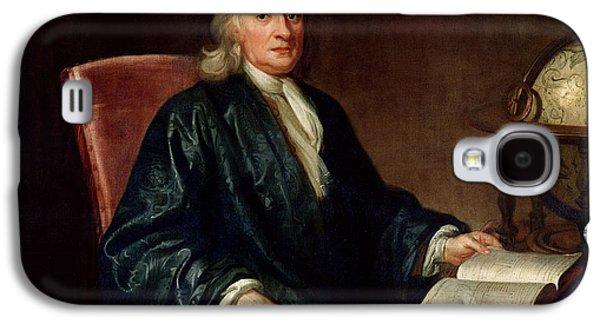 Portrait Of Isaac Newton Galaxy S4 Case by Enoch Seeman