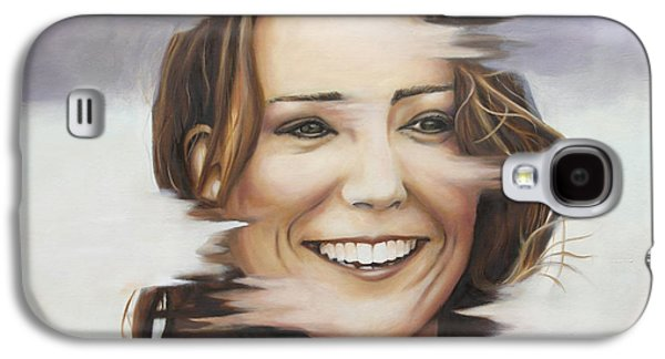 Portrait Of Kate Middleton Galaxy S4 Case by Ah Shui
