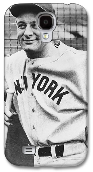 Portrait Of Lou Gehrig Galaxy S4 Case by Underwood Archives