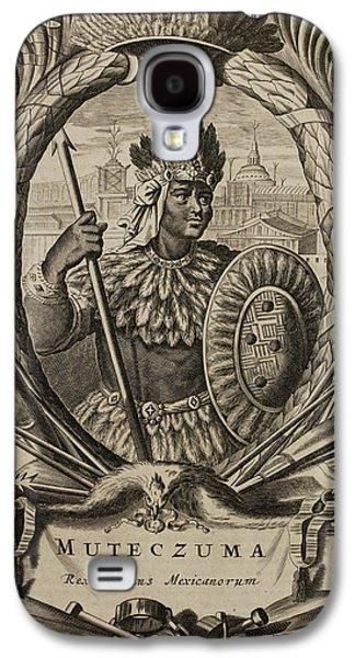 Portrait Of Montezuma II Galaxy S4 Case by British Library