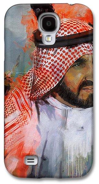 Portrait Of Sheikh Saqr Bin Mohammad Al Qasimi Galaxy S4 Case by Maryam Mughal