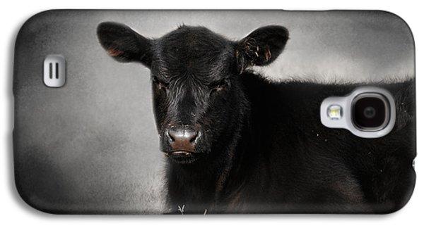 Portrait Of The Black Angus Calf Galaxy S4 Case