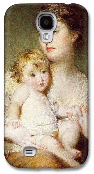 Portrait Of The Duchess Of St Albans With Her Son Galaxy S4 Case by George Elgar Hicks