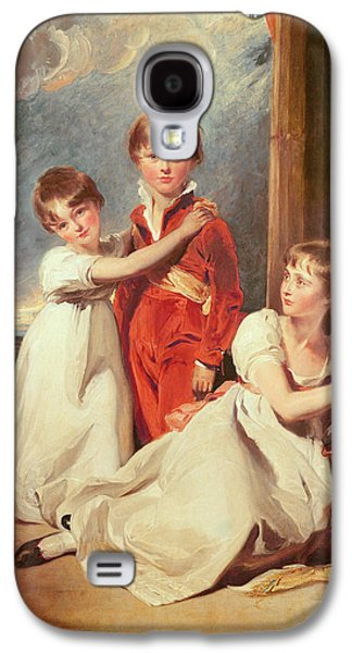 Portrait Of The Fluyder Children, 1805 Oil On Canvas Galaxy S4 Case by Sir Thomas Lawrence