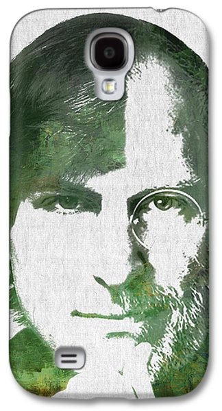 Portrait Of The Young And Old Steve Jobs  Galaxy S4 Case by Aged Pixel