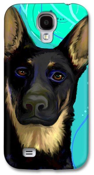 Portrait Of A German Shepherd Dog Galaxy S4 Case by Karon Melillo DeVega
