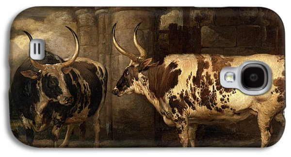 Portraits Of Two Extraordinary Oxen, The Property Galaxy S4 Case