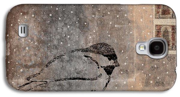 Postcard Chickadee In The Snow Galaxy S4 Case