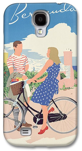 Bicycle Galaxy S4 Case - Poster Advertising Bermuda by Adolph Treidler