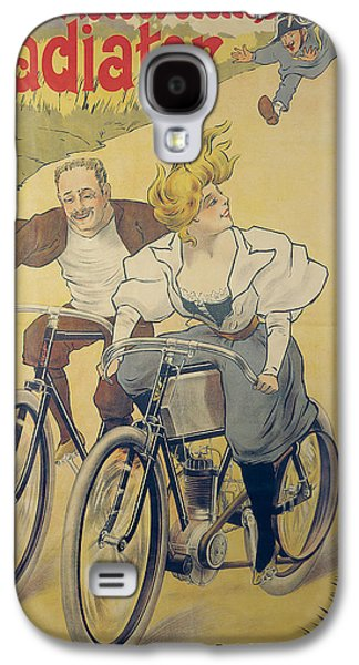 Poster Advertising Gladiator Bicycles And Motorcycles Galaxy S4 Case by Ferdinand Misti-Mifliez