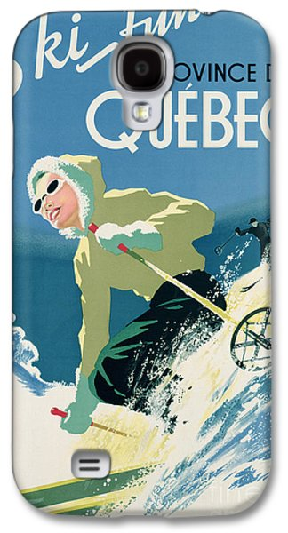 Poster Advertising Skiing Holidays In The Province Of Quebec Galaxy S4 Case by Canadian School