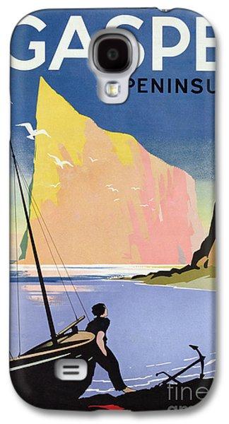 Poster Advertising The Gaspe Peninsula Quebec Canada Galaxy S4 Case