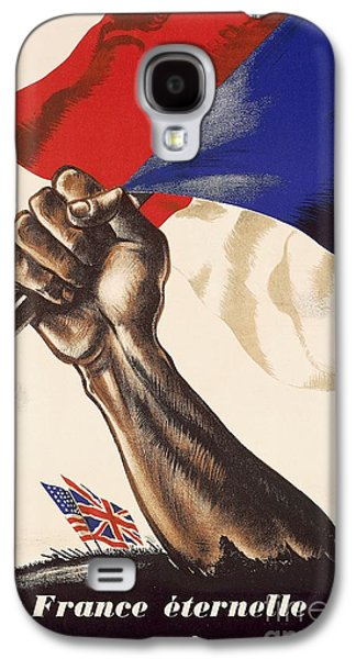 Poster For Liberation Of France From World War II 1944 Galaxy S4 Case