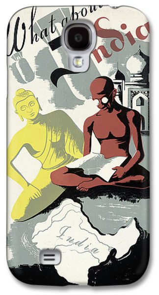 Poster India, C1943 Galaxy S4 Case by Granger