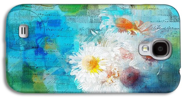 Pot Of Daisies 02 - J3327100-bl1t22a Galaxy S4 Case by Variance Collections