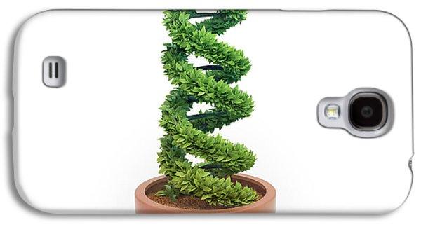 Pot Plant In Shape Of Dna Galaxy S4 Case by Andrzej Wojcicki