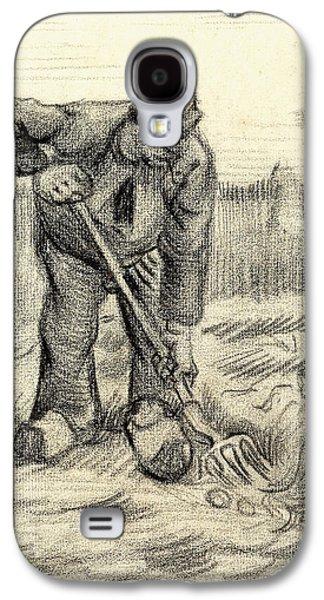 Potato Gatherer Galaxy S4 Case by Vincent Van Gogh