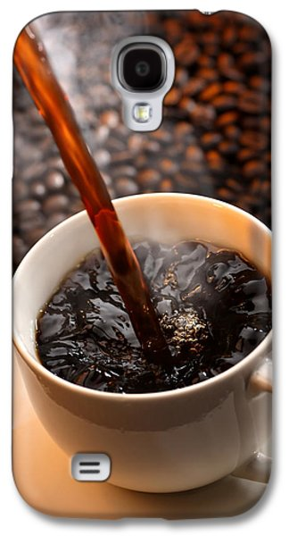 Pouring Coffee Galaxy S4 Case by Johan Swanepoel