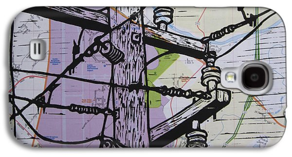 Power Lines On Map Galaxy S4 Case