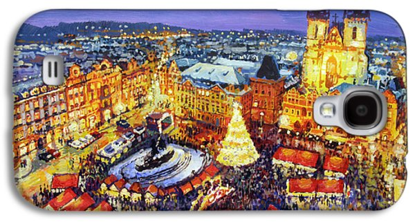 Old Town Galaxy S4 Case - Prague Old Town Square Christmas Market 2014 by Yuriy Shevchuk