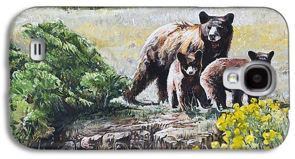 Prairie Black Bears Galaxy S4 Case