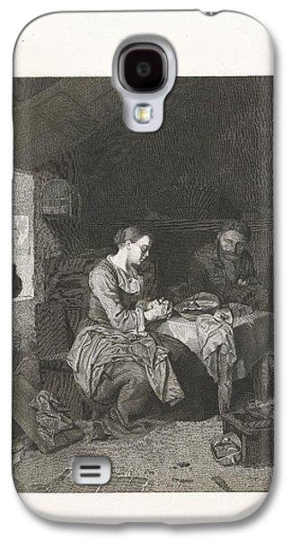 Prayer Before Meals, Bega Friedrich Wilhelm Burmeister Galaxy S4 Case by Friedrich Wilhelm Burmeister