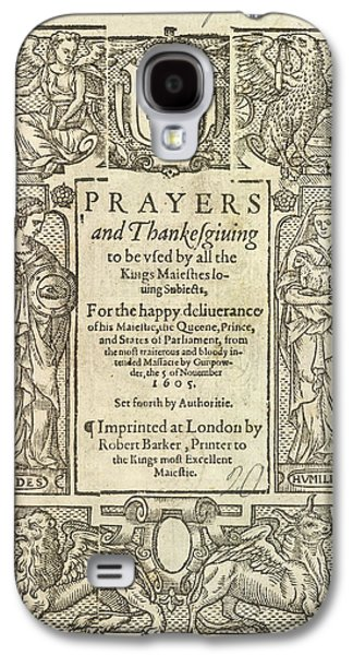 Prayers And Thanksgiving Galaxy S4 Case by British Library