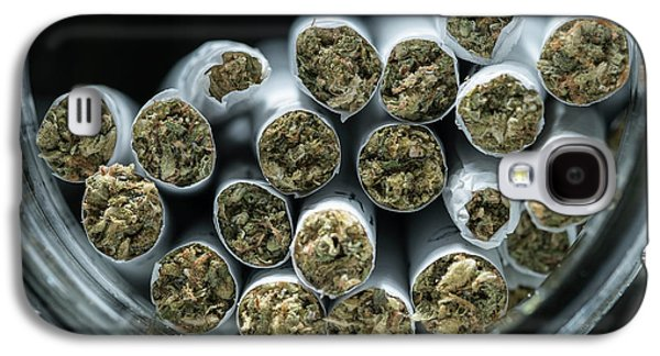 Pre-rolled Medical Cannabis Joints Galaxy S4 Case by Stock Pot Images