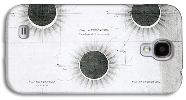 Predicted Annular Solar Eclipse Of 1820 Galaxy S4 Case by Royal Astronomical Society