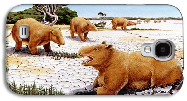 Prehistoric Giant Wombats Galaxy S4 Case