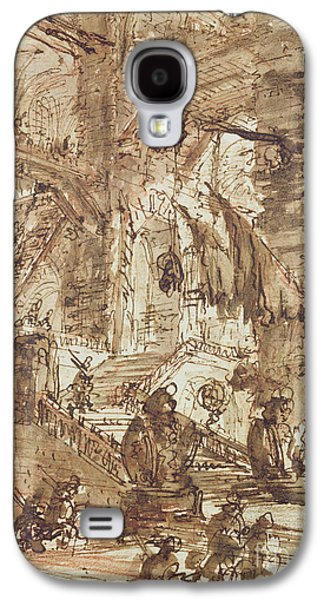 Preparatory Drawing For Plate Number Viii Of The Carceri Al'invenzione Series Galaxy S4 Case by Giovanni Battista Piranesi