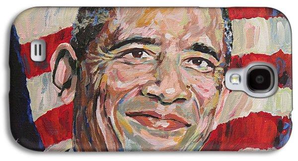 President Barack Obama Portrait Galaxy S4 Case by Robert Yaeger