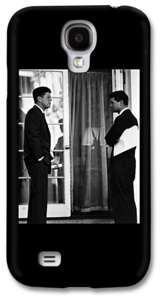President John Kennedy And Robert Kennedy Galaxy S4 Case by War Is Hell Store