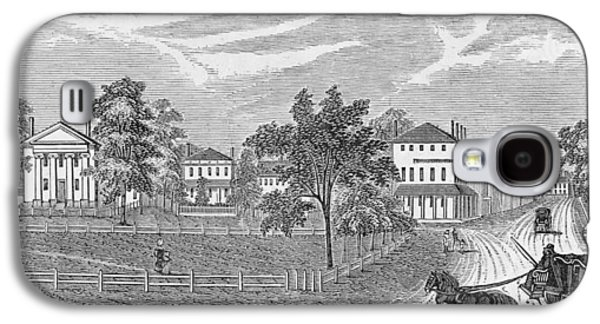 President Lincoln Leaving The Davis Mansion, Illustration From Battles And Leaders Of The Civil Galaxy S4 Case