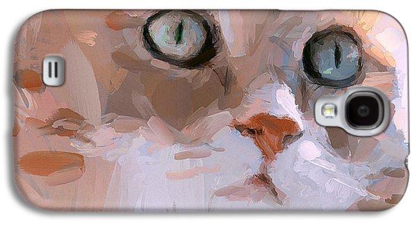 Pretty Cat Woman Galaxy S4 Case by Yury Malkov
