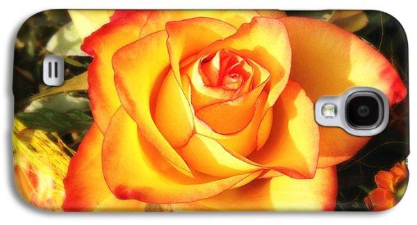 Orange Galaxy S4 Case - Pretty Orange Rose by Matthias Hauser