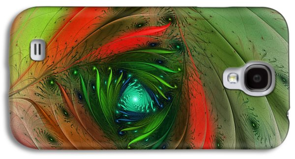 Pretty Wrapped Spiral-fractal Design Galaxy S4 Case