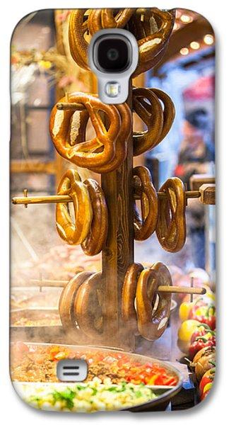 Pretzels And Food At German Christmas Market Galaxy S4 Case by Susan Schmitz