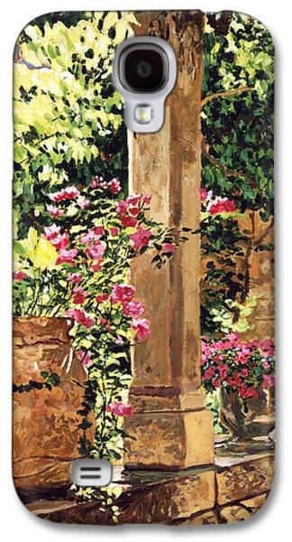 Prieure Hotel Gardens Villeneuve Galaxy S4 Case by David Lloyd Glover